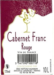 Bag in box 10 l cabernet rouge